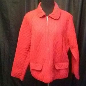 Christopher & Banks Red Quilted Jacket